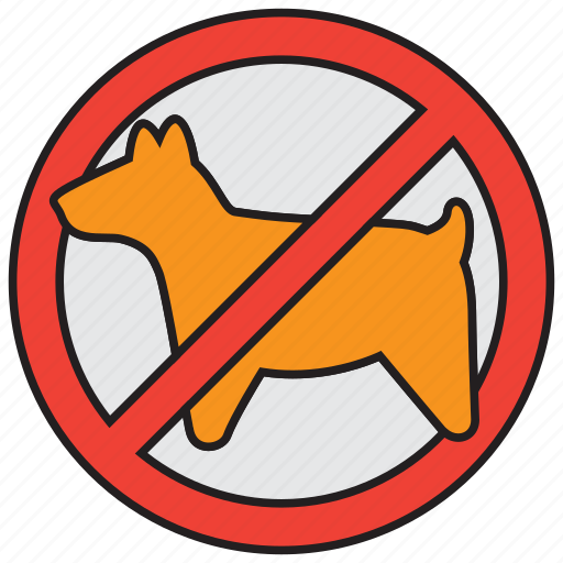 allowed, dog, forbidden, pets, prohibited, sign, warning icon