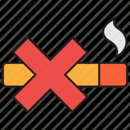 cigarette, forbidden, prohibited, sign, smoke, smoking icon