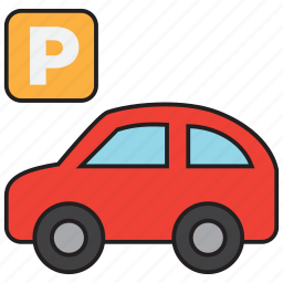 auto, car, garage, parking, sign, transportation, vehicle icon