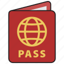 id, pass, passport, tourism, travel, vacation, visa icon