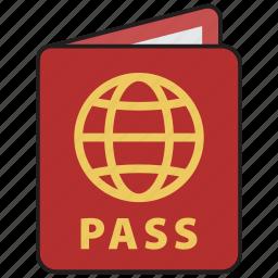 id, pass, passport, tourism, travel, vacation, visa icon