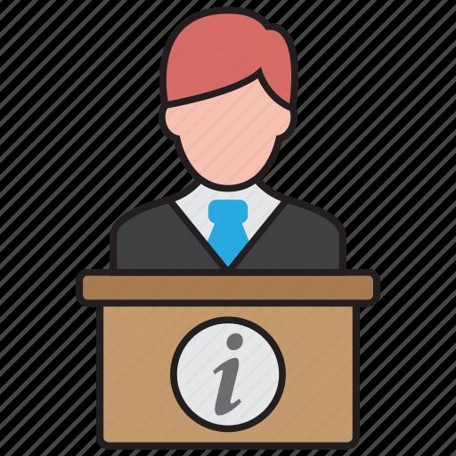 desk, help, hotel, reception, receptionist, service icon