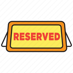 date, dinner, reserve, reserved, restaurant, table icon