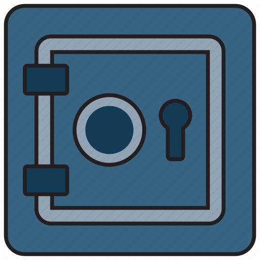 cash, lock, money, protection, safe, security icon