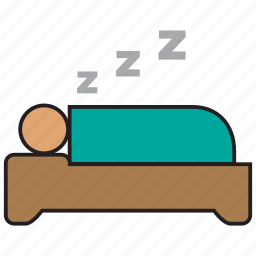 bed, bedroom, furniture, hotel, interior, sleep, snore icon