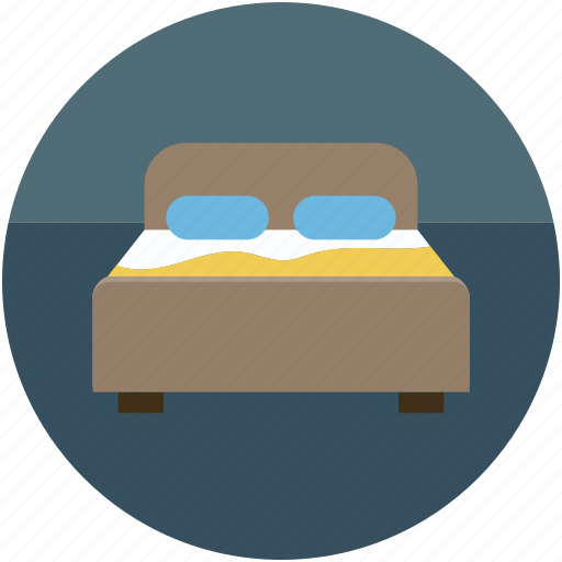 bed, bedroom, double bed, furniture, sleep icon