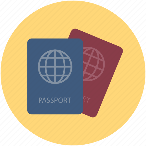 identification, passports, permit, travel id, travel permit, visa icon