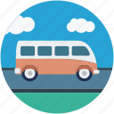 bus, luxury bus, motor coach, tour bus, tour coach, van icon