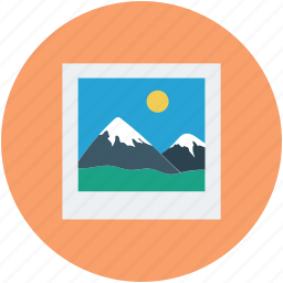 landscape, photo, pic, picture, snap icon