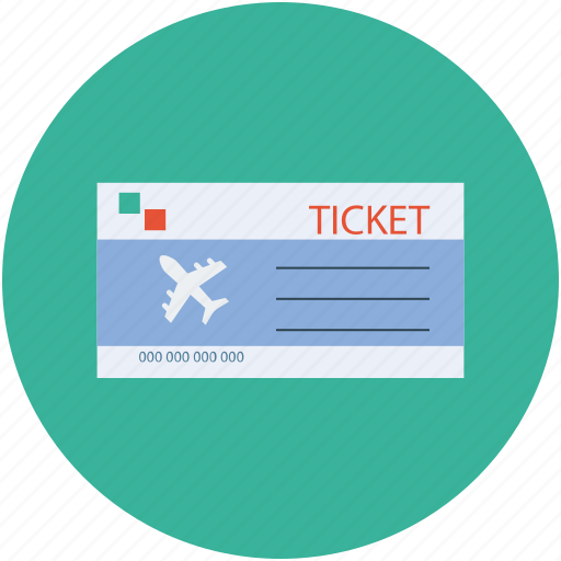 air ticket, airline flight ticket, flight ticket, ticket, travel icon