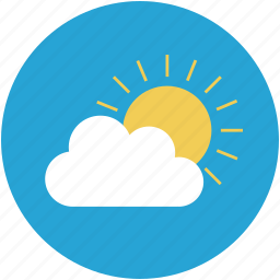 atmosphere, climate, cloud, forecast, sun, weather icon