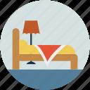 motel, single bed, sleep, room, hotel