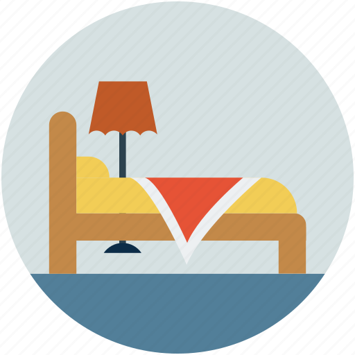 hotel, motel, room, single bed, sleep icon