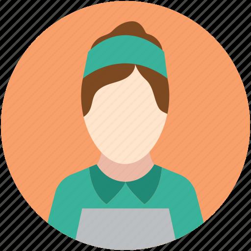 female, female staff, female worker, lady worker, worker icon