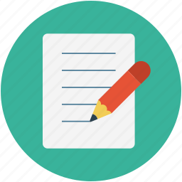 document, edit, paper, pen, pen and sheet, write icon
