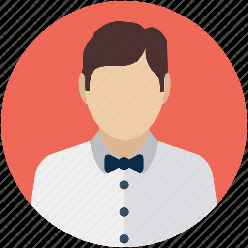 attendant, butler, man steward, servant, waiter icon