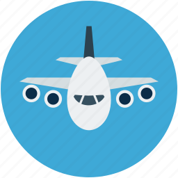 aeroplane, airbus, airliner, airplane, plane icon