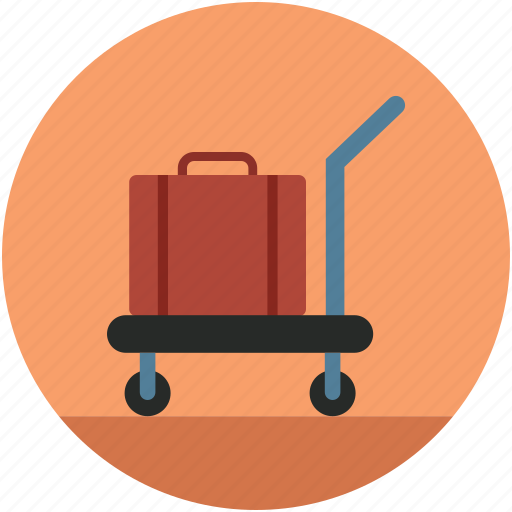 hand cart, hand truck, luggage cart, luggage trolley, platform truck icon