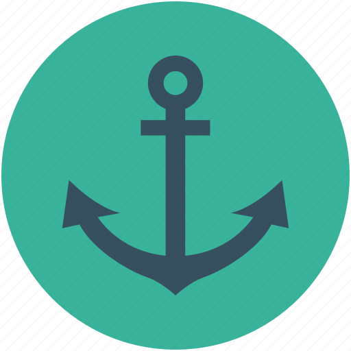 anchor, boat, boat stopper, sea, ship, stopper icon
