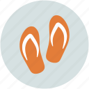 flipflops, footwear, house slippers, slippers icon