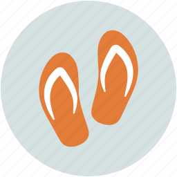 flipflops, footwear, house slippers, slippers icon