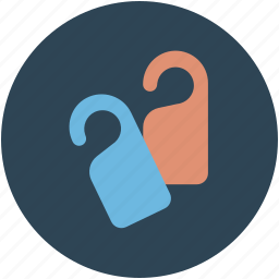 door, door knobs, hotel, key, knobs, tags icon