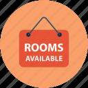 information, hotel, signboard, rooms, info board