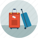 luggage, suitcases, travel bags, traveling icon