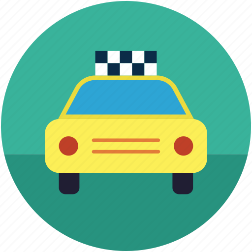 automobile, cab, taxi, taxicab, tourist car icon