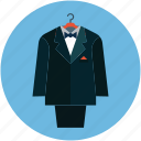 business suit, clothes, formal suit, men clothes, men fashion, suit icon