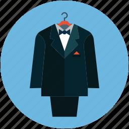 business suit, clothes, formal suit, men clothes, men fashion, suit icon
