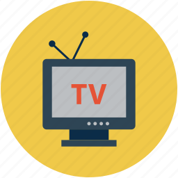 channels, telecasting, television, television set, tv icon