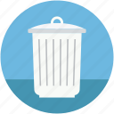 dustbin, garbage bin, trash can, trash container, waste bin icon