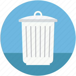 dustbin, garbage bin, trash can, trash container, waste bin icon