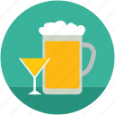 alcohol, beer, beer mug, beverage, drink, glass icon