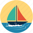 boat, sailboat, ship, vessel, watercraft, yacht icon