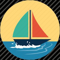 boat, sailboat, ship, vessel, watercraft, yacht icon
