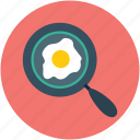 breakfast, egg, egg frying pan, egg in pan, food, fried egg icon