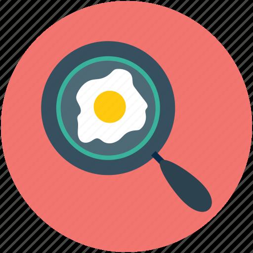 breakfast, egg, egg frying pan, egg in pan, food, fried egg icon