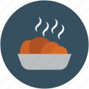 food, food bowl, hot food, hot snacks, snack food, snacks icon