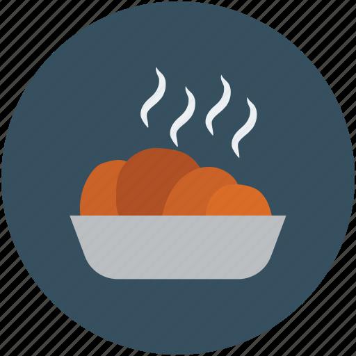 food, food bowl, hot food, hot snacks, snack food, snacks icon