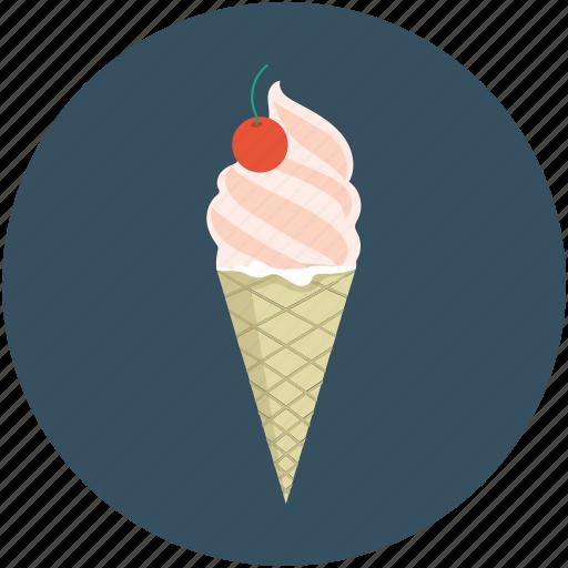 cone, cone ice cream, dessert, food, icecream icon