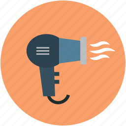 blow dryer, dryer, electric, hair accessory, hair care, hair dryer icon