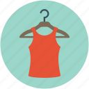 blouse, hanged blouse, hanged clothes, hanger, ladies clothing icon