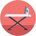 iron, ironing board, ironing stand, ironing tools icon