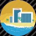 building, hotel, hotel building, inn, tavern icon