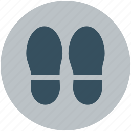 footsteps, hotel service, human foot steps, slippers, steps icon