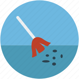 besom, broom, cleaner, cleaning, mop icon