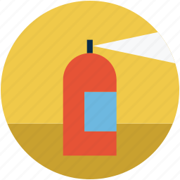 extinguisher, fire, fire extinguisher, flame, safety icon