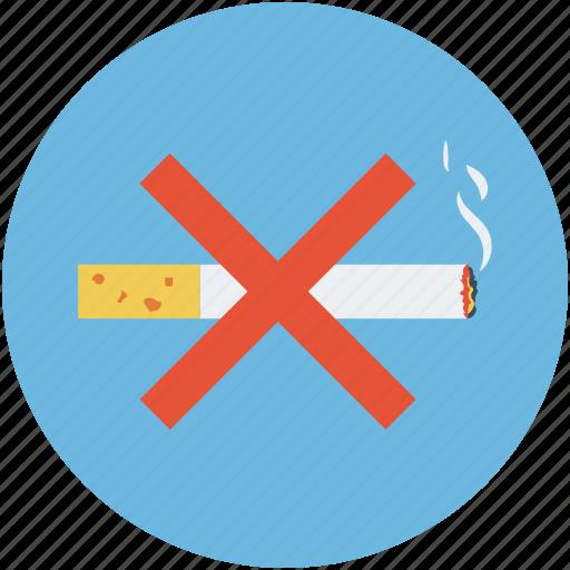 cigar, cigarette, forbidden, no smoking, smoking, smoking forbidden, smoking prohibited icon
